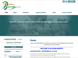 Parkland Valley Website Launch