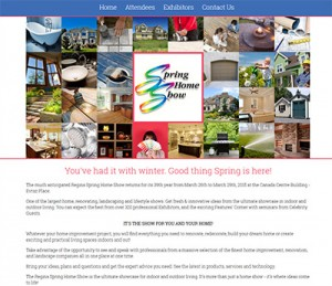 Regina Spring Homeshow website screenshot