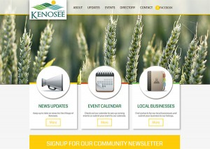 Village of Kenosee Lake website screenshot