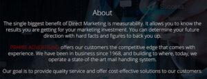 Prairie Advertising Website screenshot