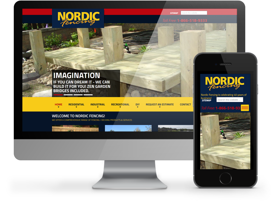 nordic fencing responsive website by OmniOnline