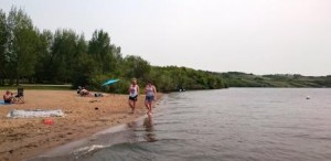 Beach at Kevin Misfeldt Campground in Saskatchewan
