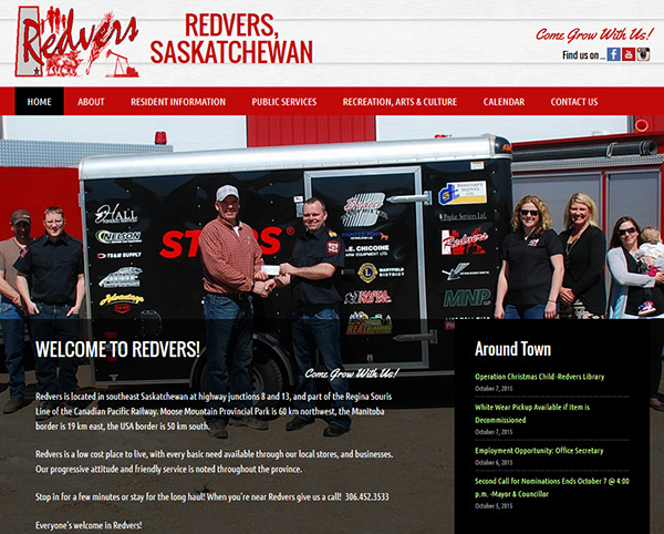 town of redvers - new website by OmniOnline