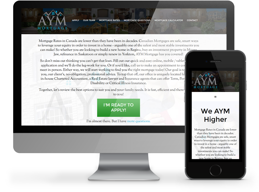 AYM Mortgage Business Website by OmniOnline