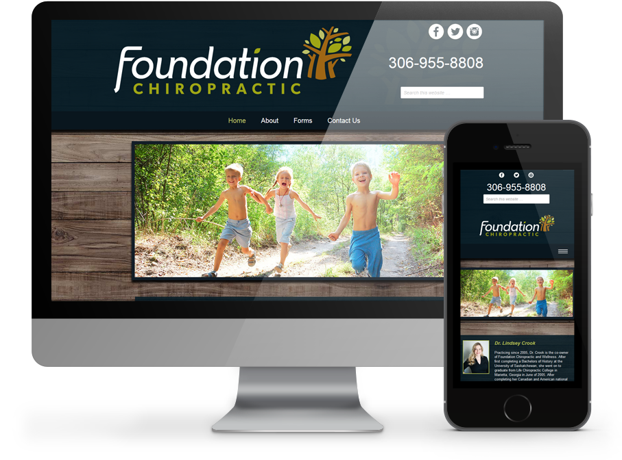 Foundation Chiropractic Business Website by OmniOnline