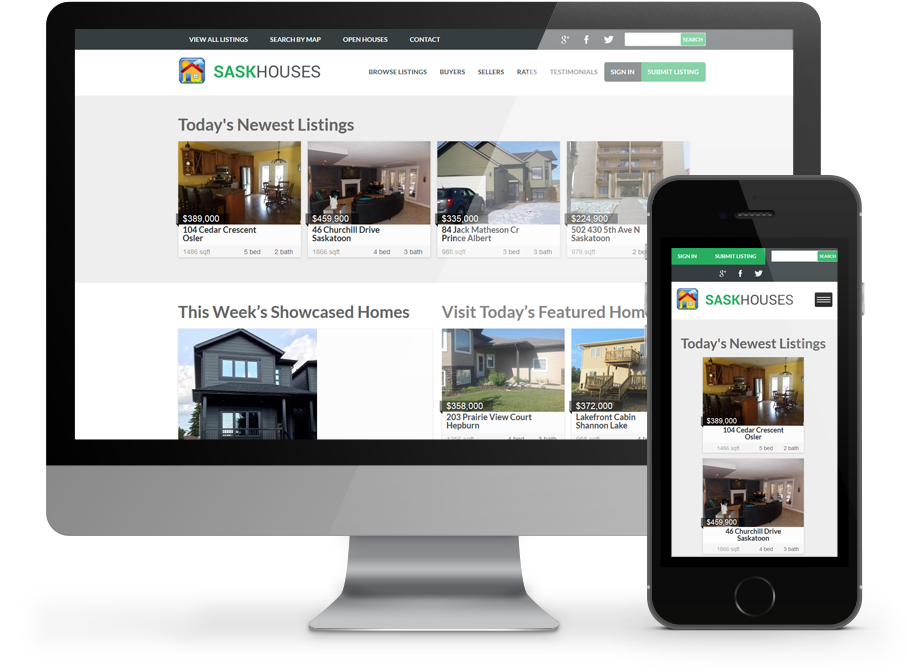 SaskHouses Business Website by OmniOnline