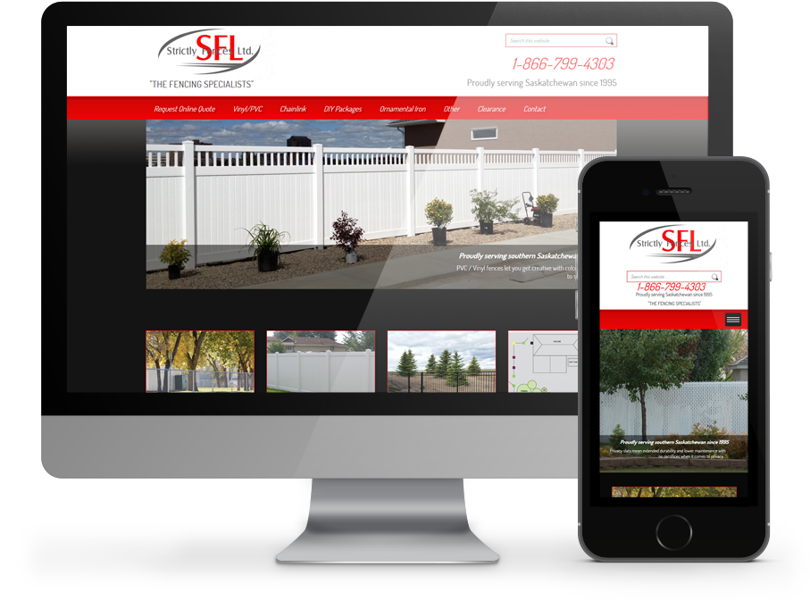 Strictly Fences Business Website by OmniOnline