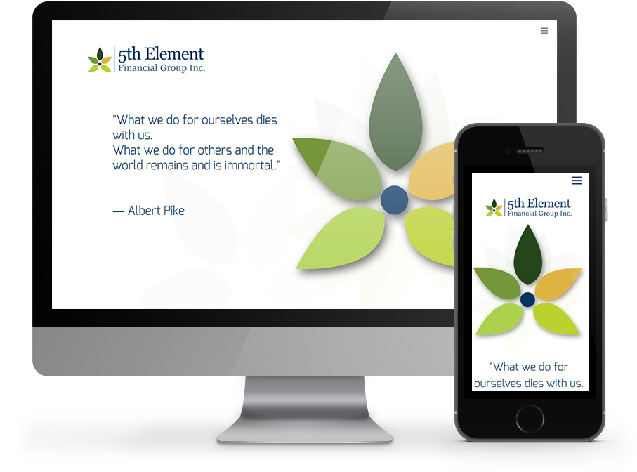 Responsive website for 5th element financial by omnionline