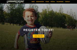 Regina Mini Rugby website by OmniOnline