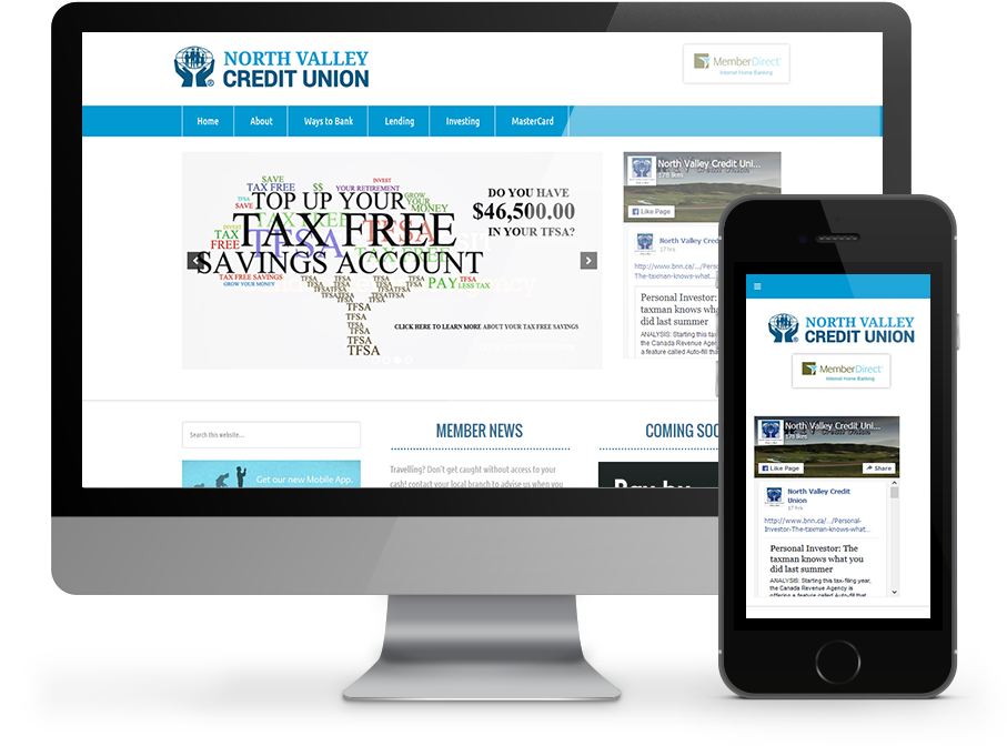 North Valley Credit Union website by OmniOnline