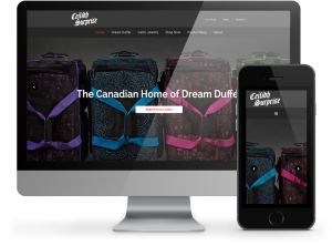 Ceilidh Surprise Dream Duffel website by OmniOnline