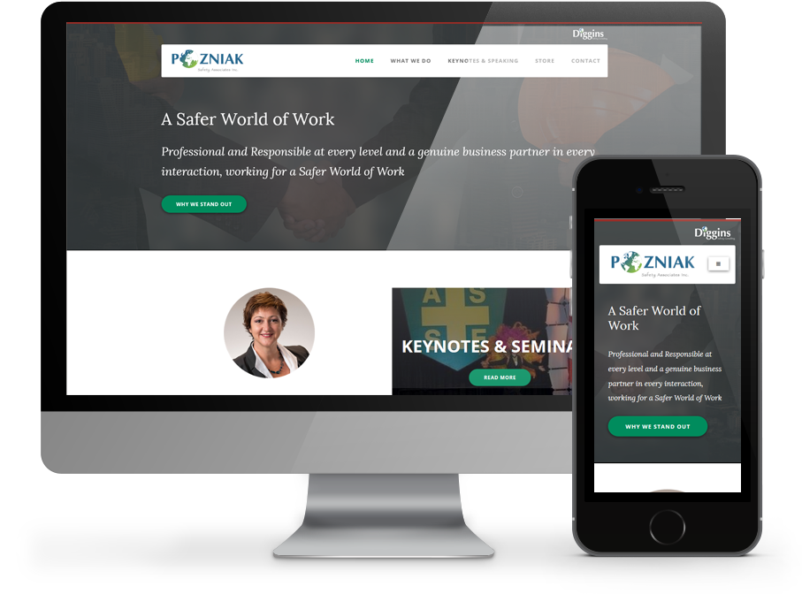 Pozniak Safety Responsive websaite by OmniOnline, Regina SK