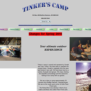 tinkers camp old website