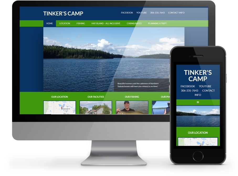 tinkers camp responsive website design
