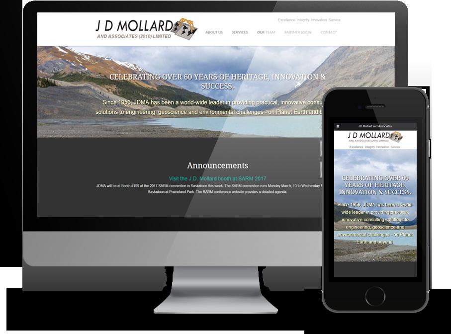 JD Mollard Responsive Website - designed by OmniOnline of Regina, SK