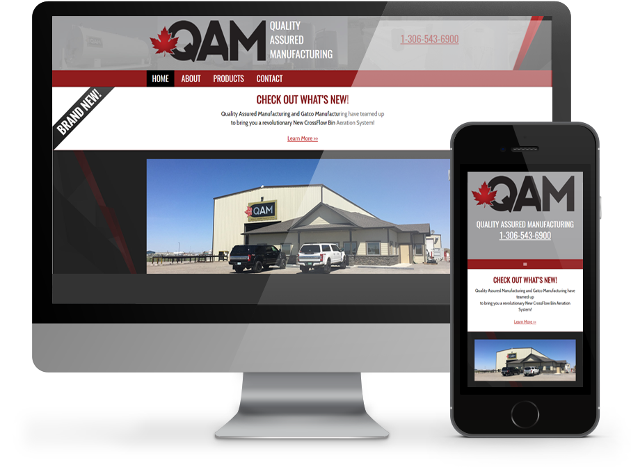 Quality Assured Manufacturing Responsive Website Regina