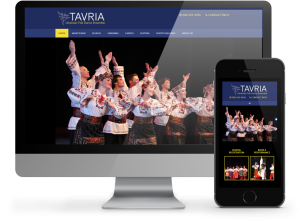Tavria Ukrainian Dance Responsive website by OmniOnline
