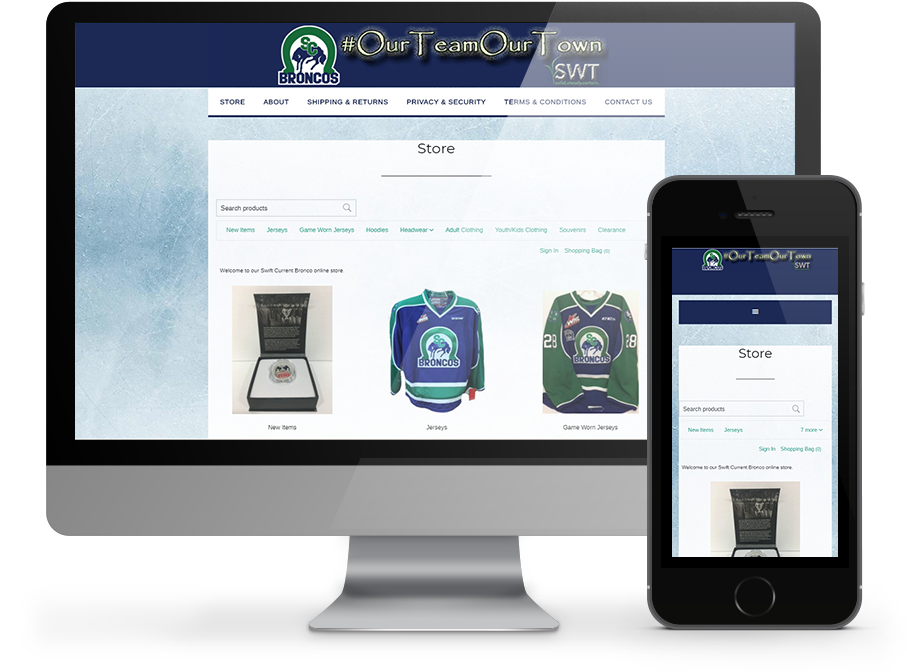 Swift Current Broncos Ecommerce store by OmniOnline
