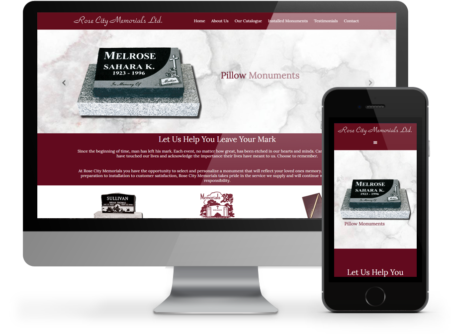 Rose City Memorials Website by OmniOnline