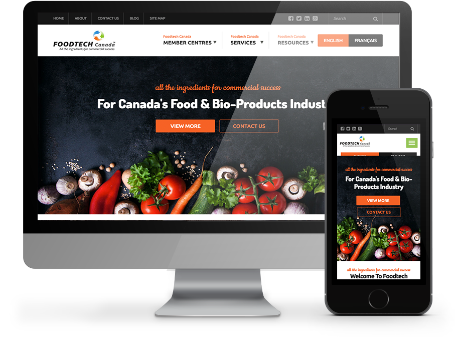 foodtech canada responsive website by OmniOnline