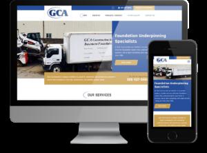 GCA Construction - Responsive website by OmniOnline