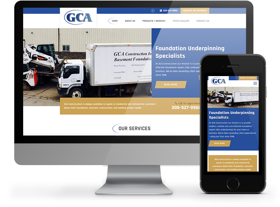 GCA Construction - Responsive website by OmniOnline