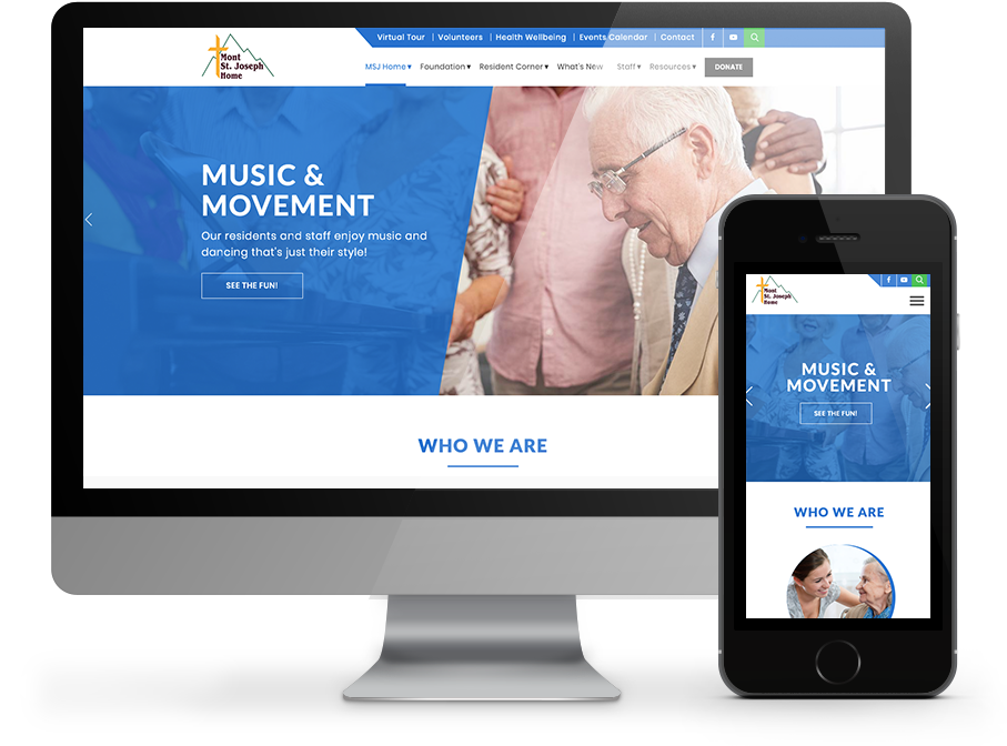 Mont St Joseph Responsive website by OmniOnline