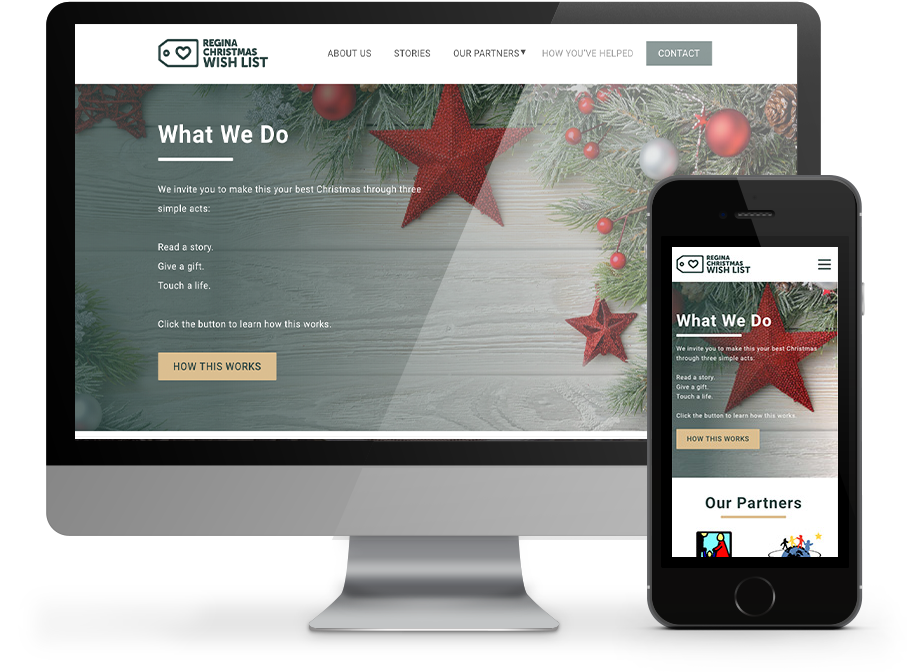Regina Christmas WishList Web Design By OmniOnline