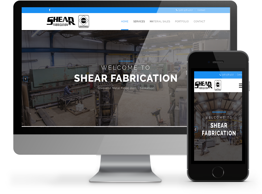 Shear Fabrication Web Design By OmniOnline