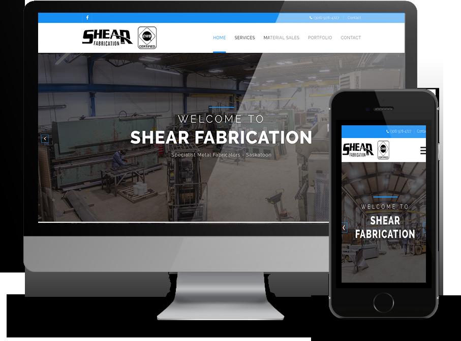 Shear Fabrication Web Design By OmniOnline