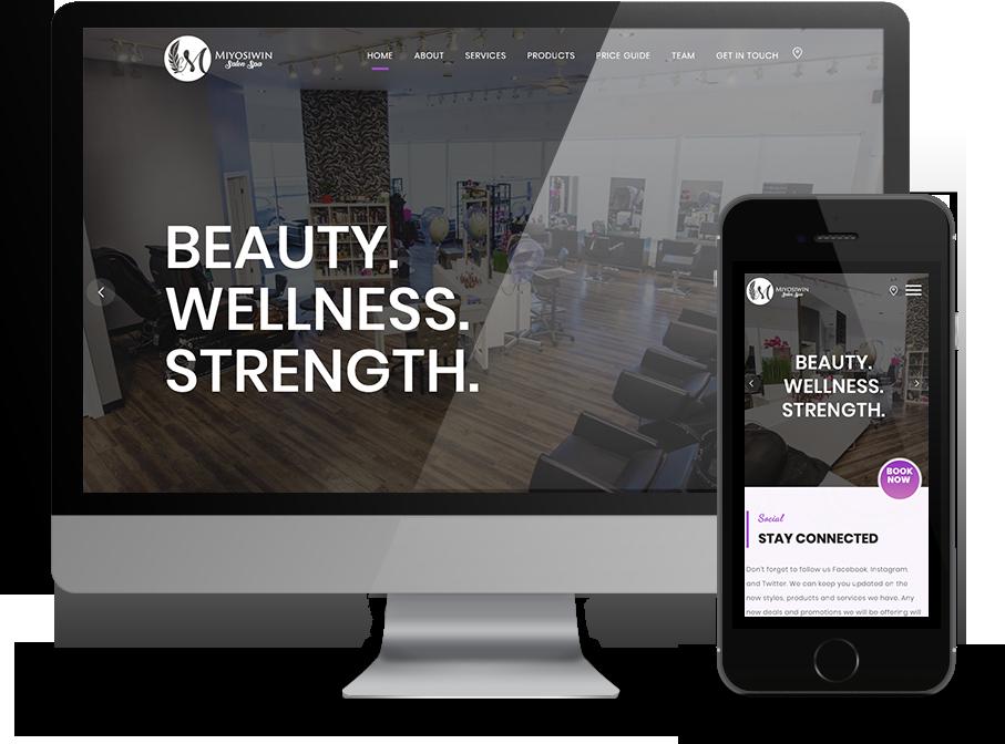 responsive website for miyosiwin salon by OmniOnline Regina