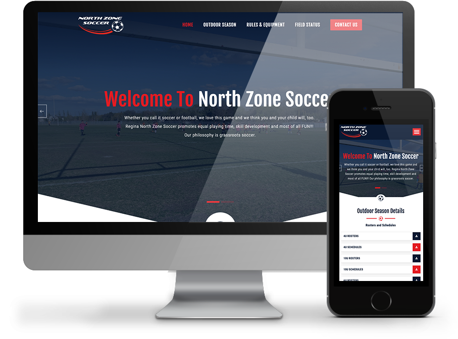 Northzone soccer website by OmniOnline