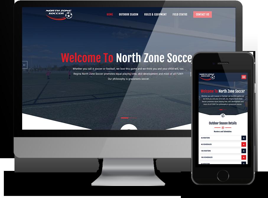 Northzone soccer regina website