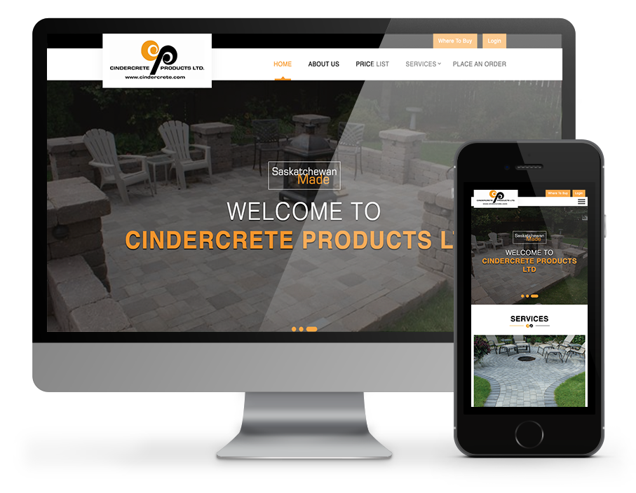 Cindrecrete responsive website - built by OmniOnline