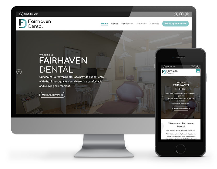 Business website for Fairhaven dental by OmniOnline