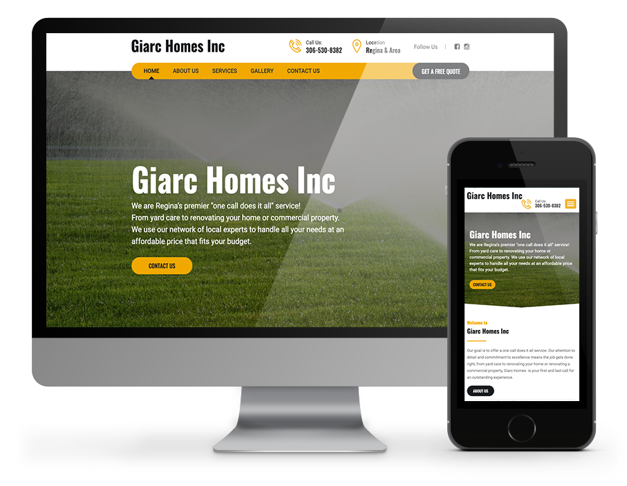 giarc homes inc website by OmniOnline