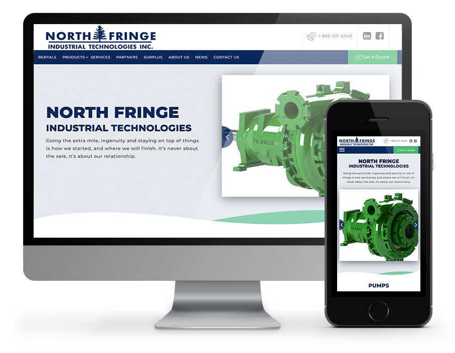 North Fringe Industrial technologies responsive website designed by OmniOnline