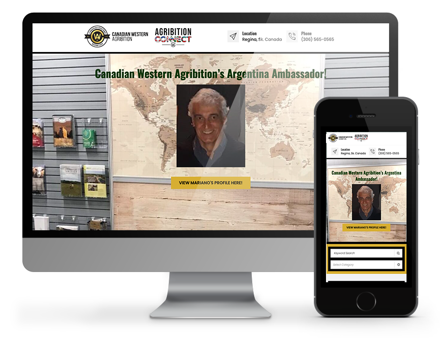 Canadian Western Agribition Web Design by OmniOnline