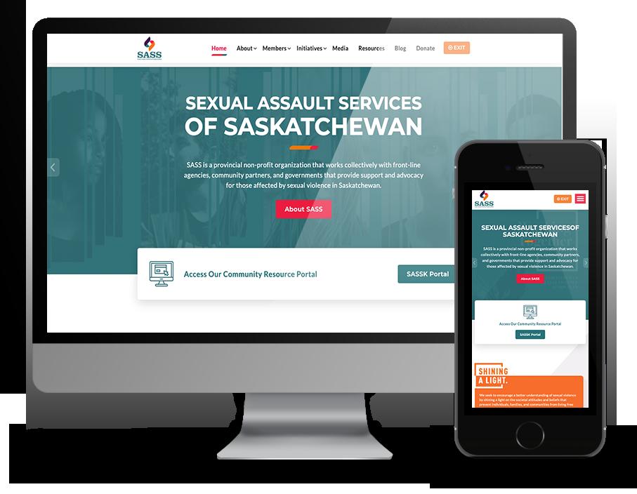 SASS website built by OmniOnline, Regina Web developer